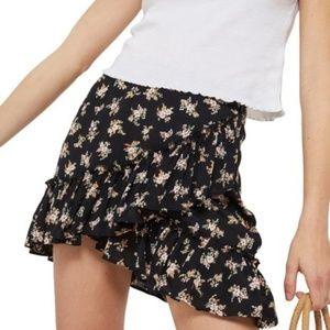 New TopShop Ditsy Frill Miniskirt